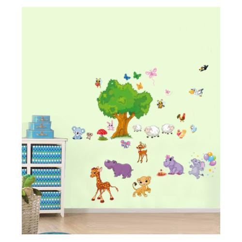 Artikel Hayvanlar Alemi Duvar Sticker 50 x 70 cm Dp-359