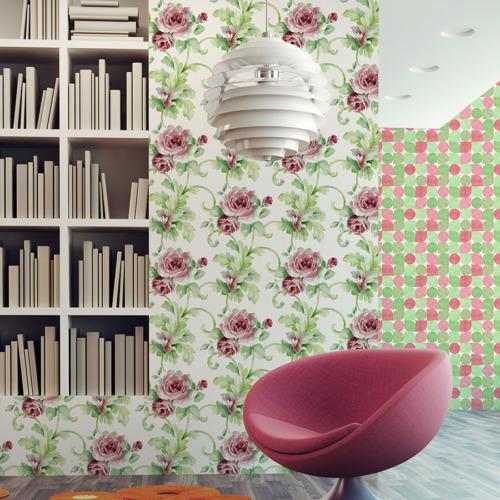 Mot Çiçekli Duvar Kağıdı 10-006003