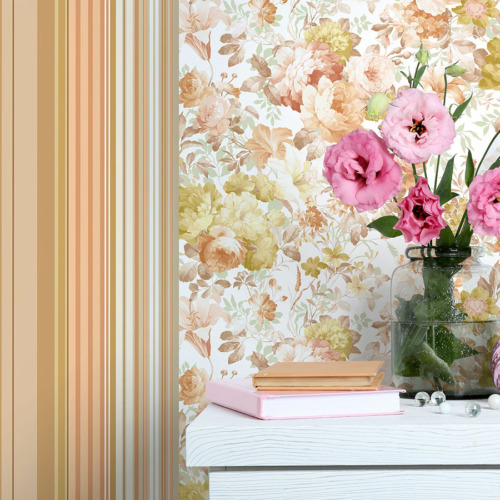 Mot Çiçekli Duvar Kağıdı 10-004302