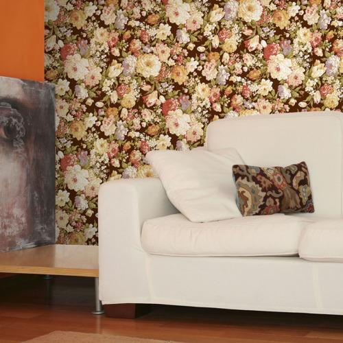 Mot Çiçekli Duvar Kağıdı 10-003901
