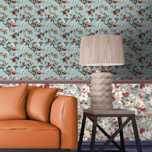 Mot Çiçekli Duvar Kağıdı 10-003801