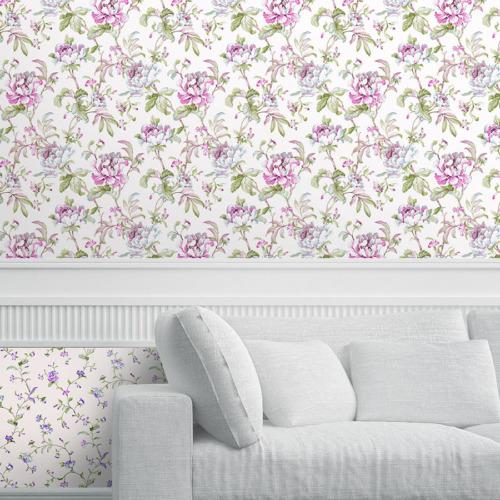 Mot Çiçekli Duvar Kağıdı 10-005101
