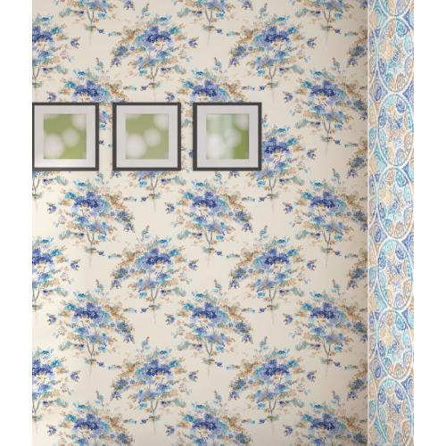 Mot Çiçekli Duvar Kağıdı 10-007201