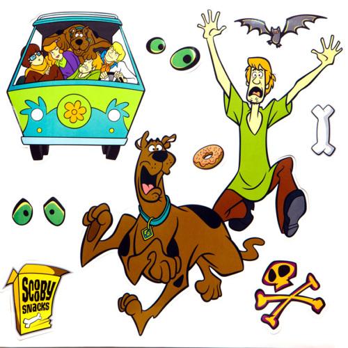 Smartdeco Scooby Doo 1 - Yapışkanlı Sticker
