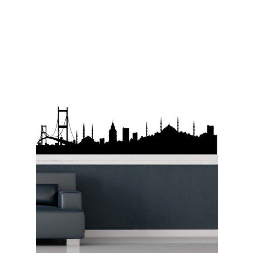 Özgül Grup Özgül Grup İstanbul Silüet Duvar Sticker | 50x13 cm