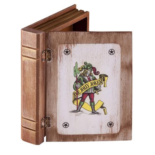 Ahşap Tasarım Orta Boy İskambil Kağıdı Kutusu