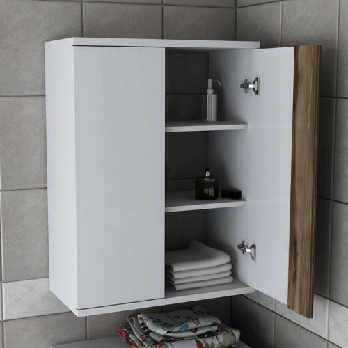 Sanal Mobilya Zen Çamaşır Makinesi Dolabı Üst Modül