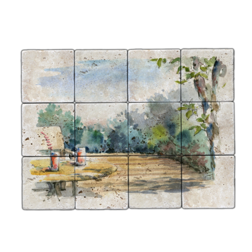 Oscar Stone Bahçe Doğal Taş Tablo