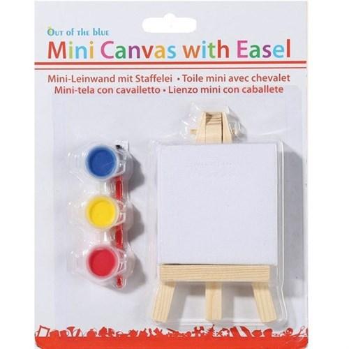 BuldumBuldum Mini Canvas With Easel - Mini Kanvas Boyama Seti