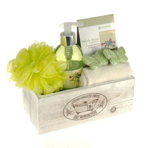 Flor De Mayo Wooden Soaps Box Hediye Seti - Verbena