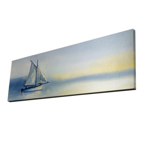 Mania Yelkenli 30x90 cm Dekoratif Kanvas Tablo 42