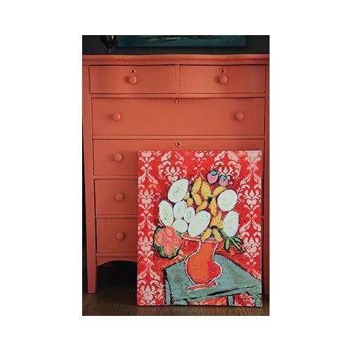 Evlina Home Kırmızı Çiçekli Canvas Duvar Panosu