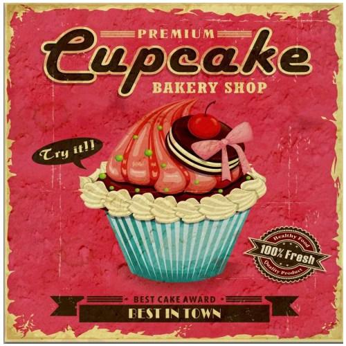 Fotocron Dekoratif Tablo Cupcake