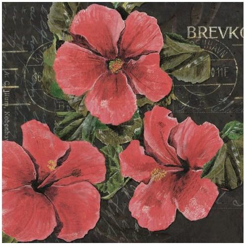 Fotocron Dekoratif Tablo Kırmızı Çiçek