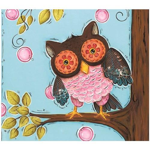 Fotocron Dekoratif Tablo Çiçek Baykuş
