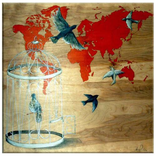 Arte Özgürlük Kanvas Tablo