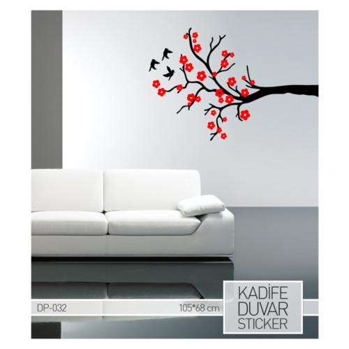 Artikel Kiraz Dalı Kadife Duvar Sticker 105x68 cm DP 032