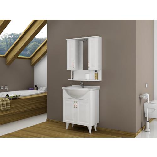 Bestline Country Serisi 70 cm Çekmeceli Banyo Dolabı - Beyaz