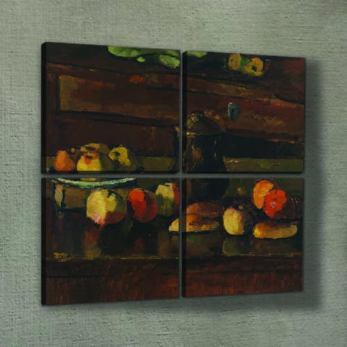 Artikel Fruits Time 4 Parça Kanvas Tablo 70X70 Cm