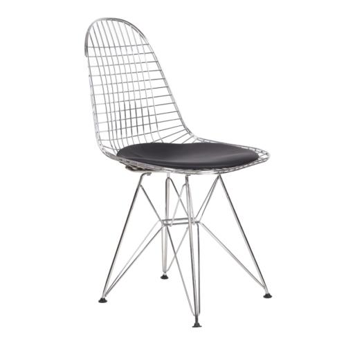 Şaziye Metal Eames Tel Sandalye - Krom Kaplama
