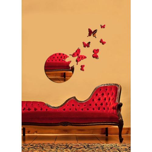 Kelebekler Ve Daire Dekoratif Kırılmaz Ayna