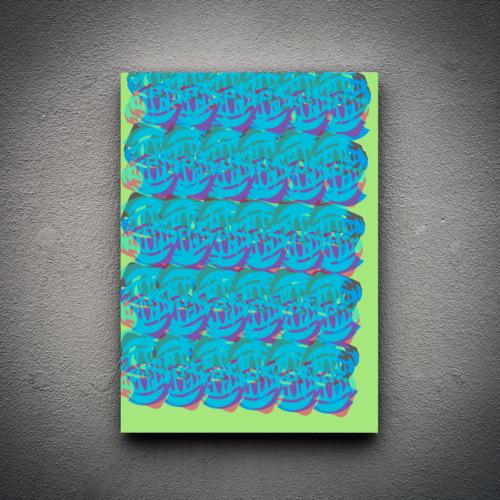 Zoodesignstudio Kanvas Tablo Soyut -2 - 60X90