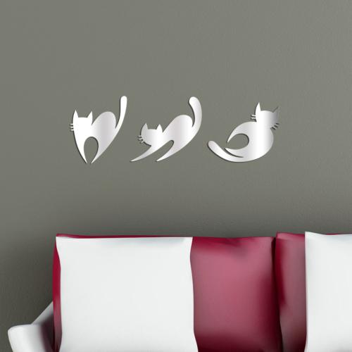 Dekoratif Ayna Kediler
