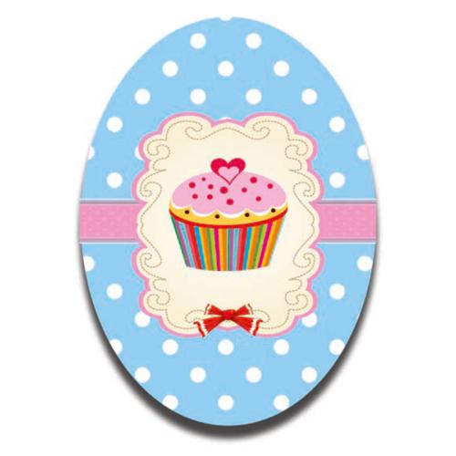 Dolce Home Kalp Desen Cupcake - 3 Dekoratif Tablo Ccake05