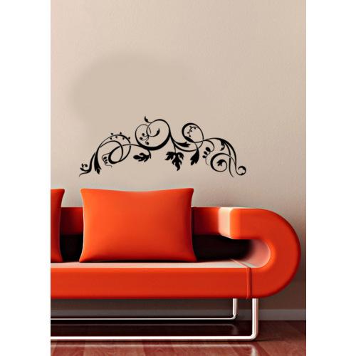 Floral Motif Duvar Sticker