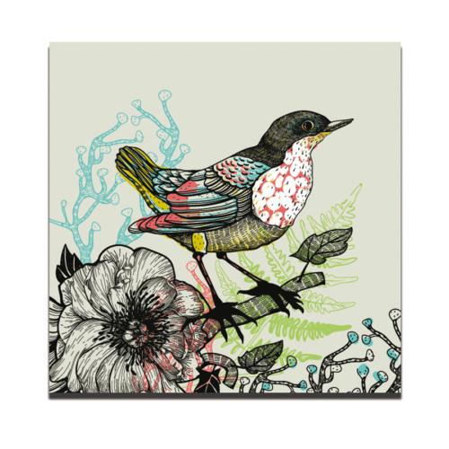 Dolce Home Siyah Desen Kuş Dekoratif Tablo Dg1b1k20m29