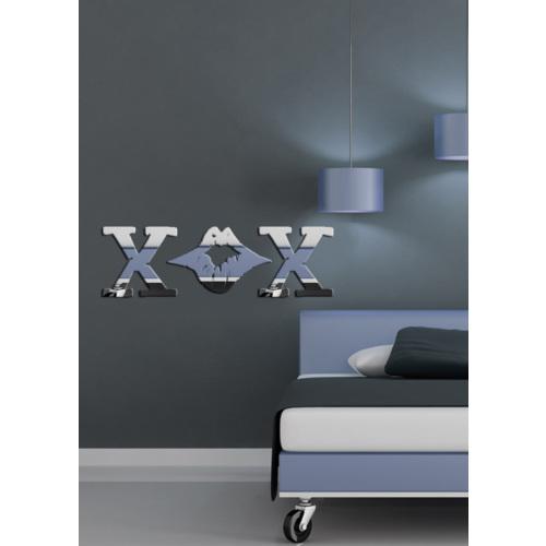 Dekoratif Kırılmaz Ayna Dudak Ve X