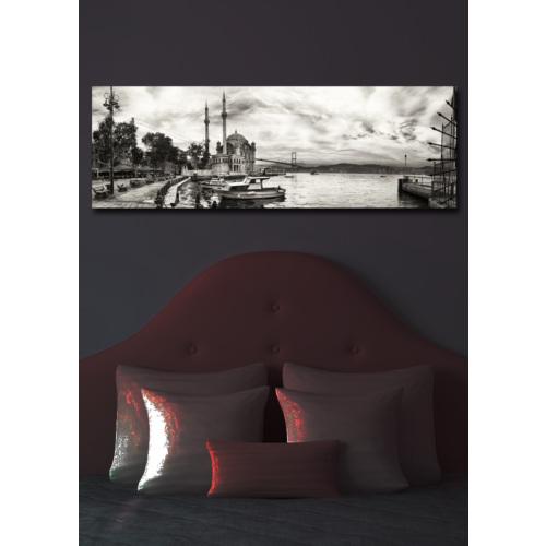 İstanbul İçten Aydınlatmalı Kanvas Tablo -30X90