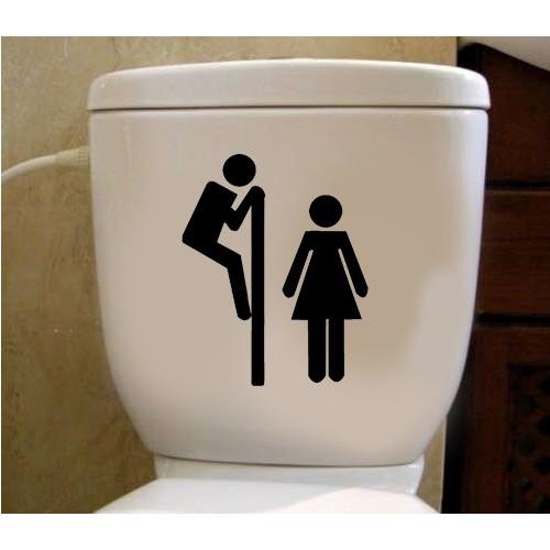 Tuvalet Sticker Kadın Erkek