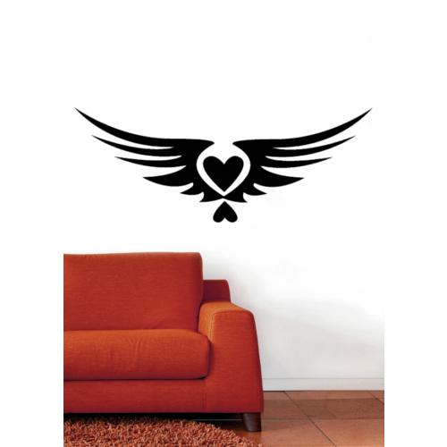 Kanatlı Kalp Duvar Sticker