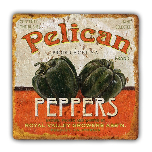 Oscar Stone Pelican Peppers Taş Tablo