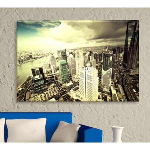 Artcanvas City - 1 Dekoratif Kanvas Tablo -50x70 cm