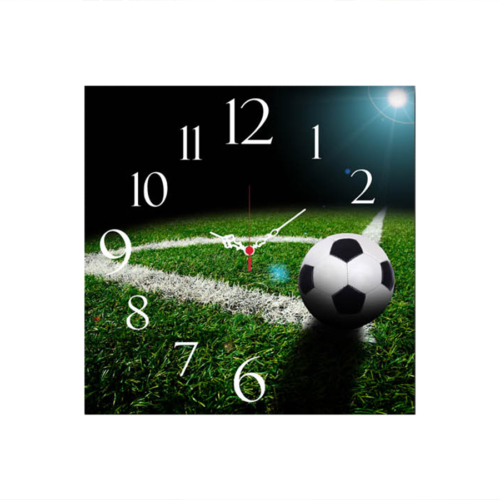 Futbol Topu Mdf Saat Kare