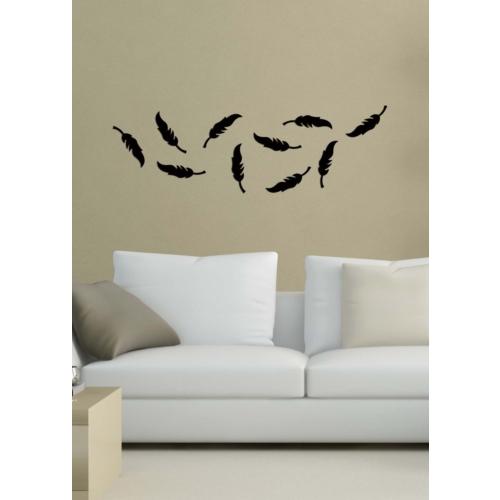Dekoratif Akrilik Siyah Tüy-5