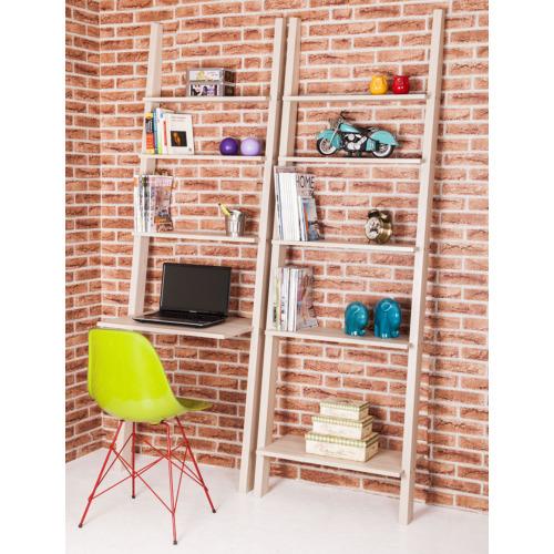 Colors Home Merdiven Kitaplık & Masa Seti - Meşe