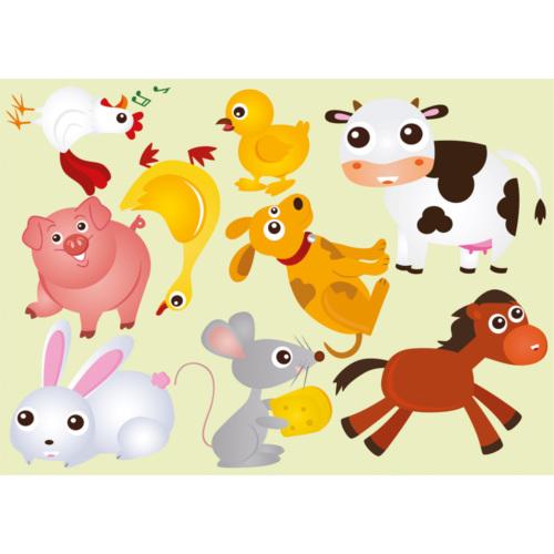 Dekorjinal Hayvanlar Alemi Çocuk Sticker - Kd48