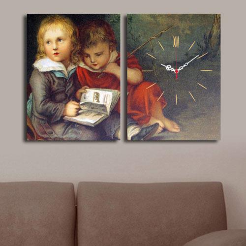 2 Parça Kanvas Saat - Çocuklar
