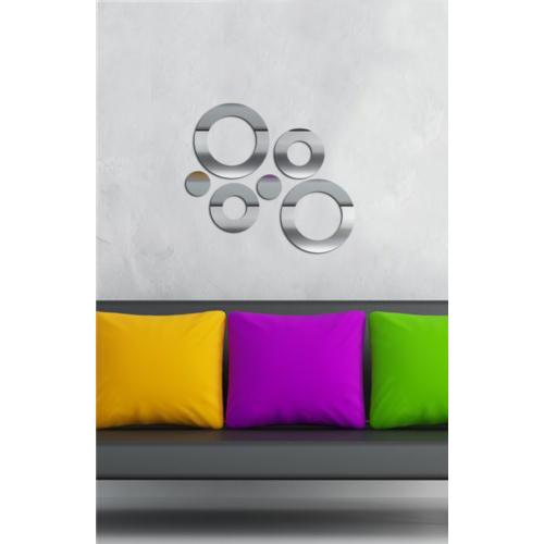 Dekoratif Kırılmaz Ayna Daireler - 2