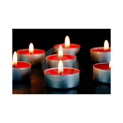 Happy Candle 24 adet Kırmızı Çilekli Tea Light Mum mm20-24