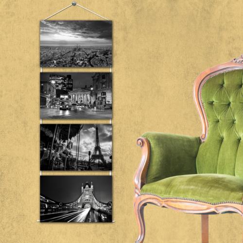 K Dekorasyon Kmas1009 Askılı Mdf Tablo - 4 Parçalı