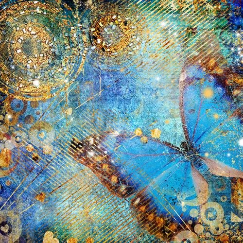 Duvar Tasarım DC 2040 Mediternian Kanvas Tablo - 50x50 cm