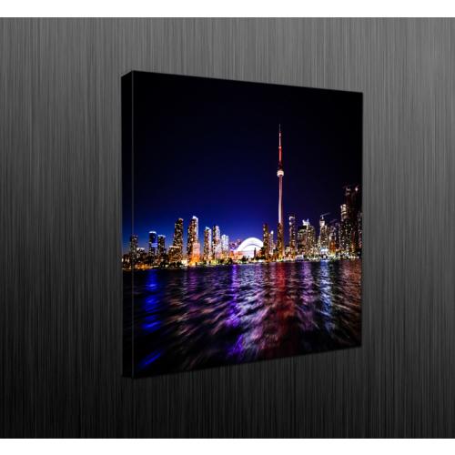 Duvar Tasarım DLC6023 Led Işıklı Kanvas Tablo - 35x35 cm