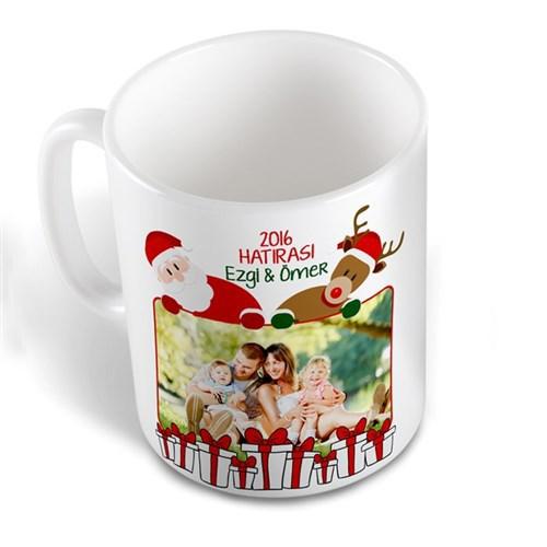 BuldumBuldum Noel Baba Ve Geyik Bardak - Beyaz Kupa
