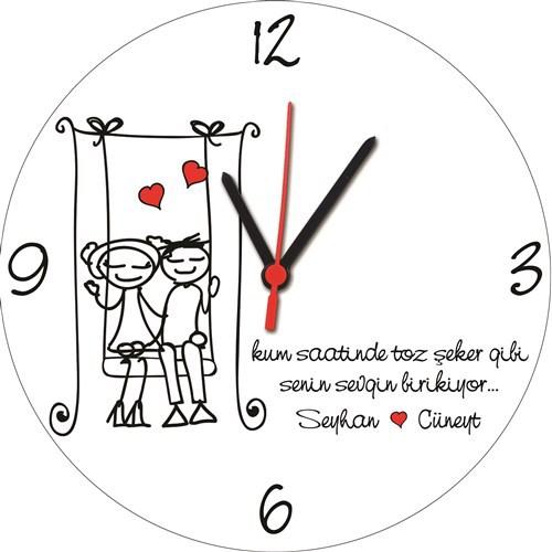 BuldumBuldum Zamanla Sevgim Artıyor Ürünleri - Yuvarlak Duvar Saati