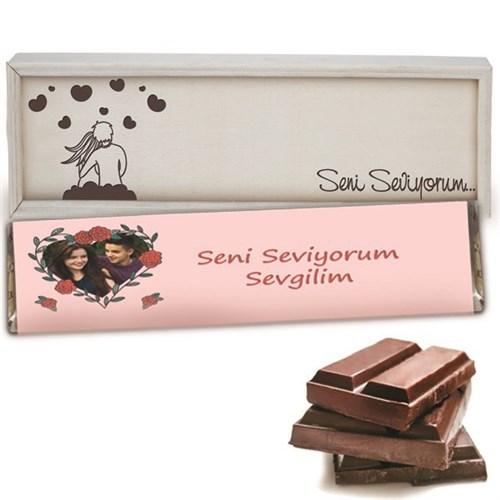 BuldumBuldum Sevgiliye Özel Fotoğraflı Dev Çikolata
