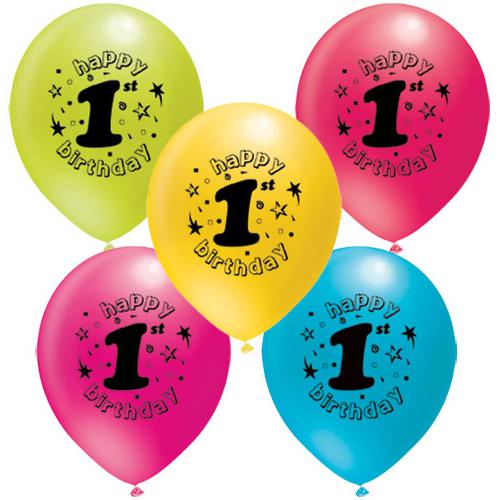 Parti Şöleni 1 Yaş Baskılı Balon 20 Adet